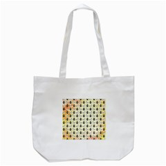 Goose Swan Anchor Gold Tote Bag (white)