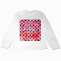 Goose Swan Anchor Pink Kids Long Sleeve T-Shirts by Alisyart