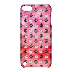 Goose Swan Anchor Pink Apple Ipod Touch 5 Hardshell Case With Stand by Alisyart