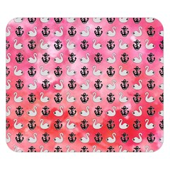 Goose Swan Anchor Pink Double Sided Flano Blanket (small)  by Alisyart