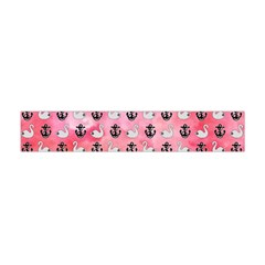 Goose Swan Anchor Pink Flano Scarf (mini) by Alisyart