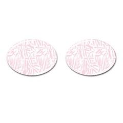Graffiti Paint Pink Cufflinks (oval) by Alisyart