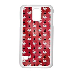 Goose Swan Hook Red Samsung Galaxy S5 Case (white) by Alisyart