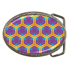 Yellow Honeycombs Pattern                                                          			belt Buckle by LalyLauraFLM