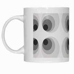 Hole Black Eye Grey Circle White Mugs by Alisyart