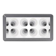 Hole Black Eye Grey Circle Memory Card Reader (mini) by Alisyart