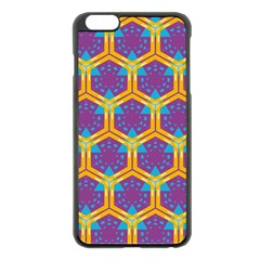 Yellow Honeycombs Pattern                                                         			apple Iphone 6 Plus/6s Plus Black Enamel Case by LalyLauraFLM