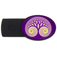 Glynnset Royal Purple Usb Flash Drive Oval (2 Gb) by Alisyart