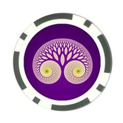 Glynnset Royal Purple Poker Chip Card Guard by Alisyart