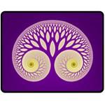 Glynnset Royal Purple Fleece Blanket (Medium)  60 x50 Blanket Front
