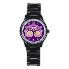 Glynnset Royal Purple Stainless Steel Round Watch by Alisyart