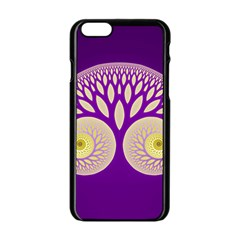Glynnset Royal Purple Apple Iphone 6/6s Black Enamel Case by Alisyart