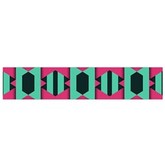 Green Pink Shapes                                 Flano Scarf by LalyLauraFLM