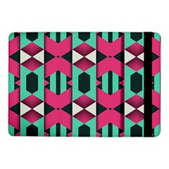 Green Pink Shapes                                			samsung Galaxy Tab Pro 10 1  Flip Case by LalyLauraFLM