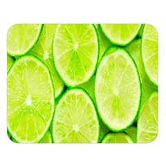 Green Lemon Slices Fruite Double Sided Flano Blanket (large)  by Alisyart