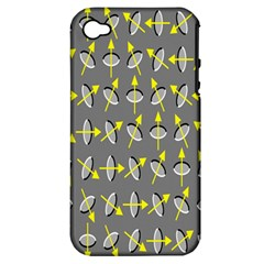 Illusory Motion Of Each Grain Arrow Grey Apple Iphone 4/4s Hardshell Case (pc+silicone) by Alisyart