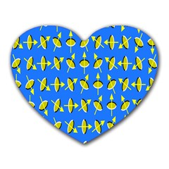 Illusory Motion Of Each Grain Arrow Blue Heart Mousepads