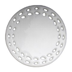 Halftone Simple Dalmatians Black Circle Ornament (round Filigree) by Alisyart
