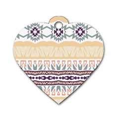 Tribal Design        			dog Tag Heart (one Side) by LalyLauraFLM