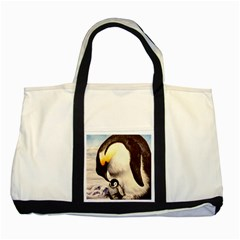 Emperor Penguin Two Tone Tote Bag by ArtByThree
