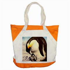 Emperor Penguin Accent Tote Bag by ArtByThree