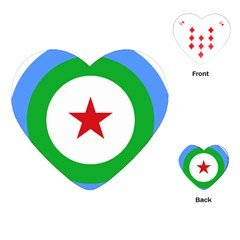 Roundel Of Djibouti Air Force  Playing Cards (heart)  by abbeyz71