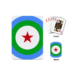 Roundel Of Djibouti Air Force  Playing Cards (mini)  by abbeyz71