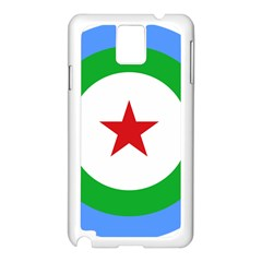 Roundel Of Djibouti Air Force  Samsung Galaxy Note 3 N9005 Case (white)