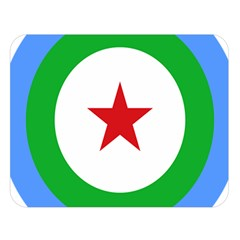 Roundel Of Djibouti Air Force  Double Sided Flano Blanket (large)  by abbeyz71