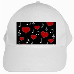 Love Song White Cap by Valentinaart