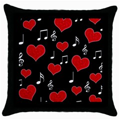 Love Song Throw Pillow Case (black) by Valentinaart