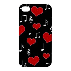 Love Song Apple Iphone 4/4s Premium Hardshell Case by Valentinaart