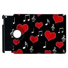 Love Song Apple Ipad 2 Flip 360 Case by Valentinaart