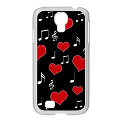 Love Song Samsung Galaxy S4 I9500/ I9505 Case (white) by Valentinaart