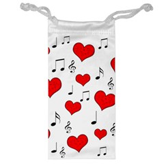 Love Song Pattern Jewelry Bag by Valentinaart