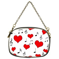 Love Song Pattern Chain Purses (one Side)  by Valentinaart