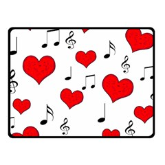 Love Song Pattern Fleece Blanket (small) by Valentinaart