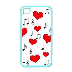 Love Song Pattern Apple Iphone 4 Case (color) by Valentinaart