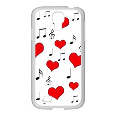 Love Song Pattern Samsung Galaxy S4 I9500/ I9505 Case (white) by Valentinaart