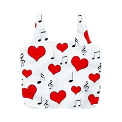 Love Song Pattern Full Print Recycle Bags (m)  by Valentinaart