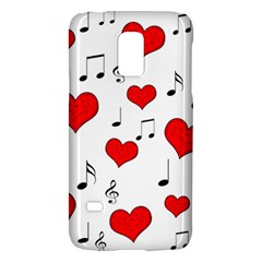 Love Song Pattern Galaxy S5 Mini by Valentinaart