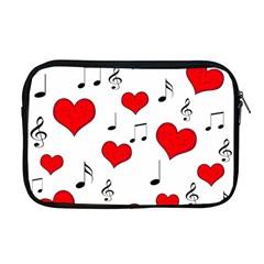 Love Song Pattern Apple Macbook Pro 17  Zipper Case by Valentinaart