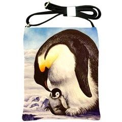 Emperor Penguin Shoulder Sling Bag by ArtByThree