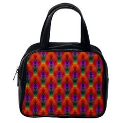 Apophysis Fractal Owl Neon Classic Handbags (one Side) by Nexatart