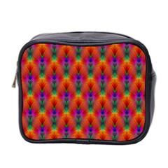 Apophysis Fractal Owl Neon Mini Toiletries Bag 2 Side by Nexatart
