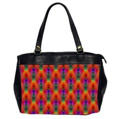 Apophysis Fractal Owl Neon Office Handbags (2 Sides)  by Nexatart