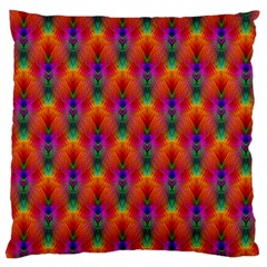 Apophysis Fractal Owl Neon Large Cushion Case (two Sides) by Nexatart