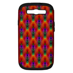 Apophysis Fractal Owl Neon Samsung Galaxy S Iii Hardshell Case (pc+silicone)
