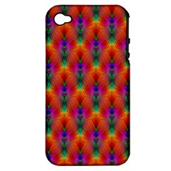 Apophysis Fractal Owl Neon Apple Iphone 4/4s Hardshell Case (pc+silicone) by Nexatart
