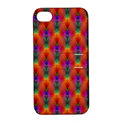 Apophysis Fractal Owl Neon Apple Iphone 4/4s Hardshell Case With Stand